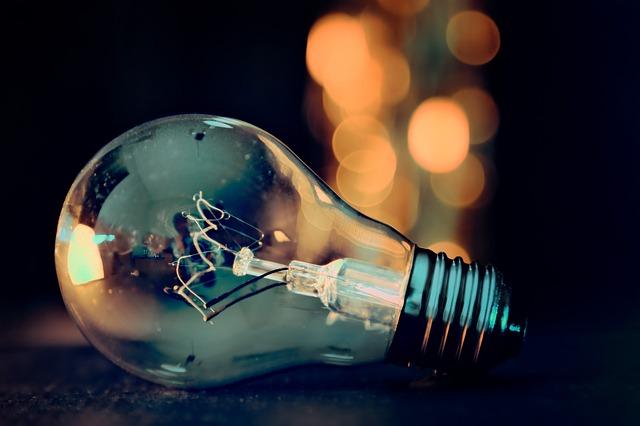 světla za žárovkou