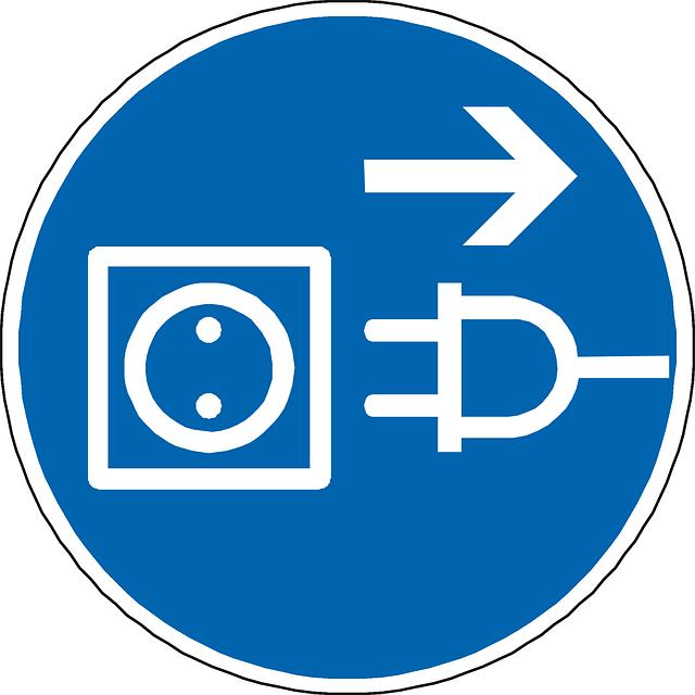 zásuvka – vektor v modrém provedení