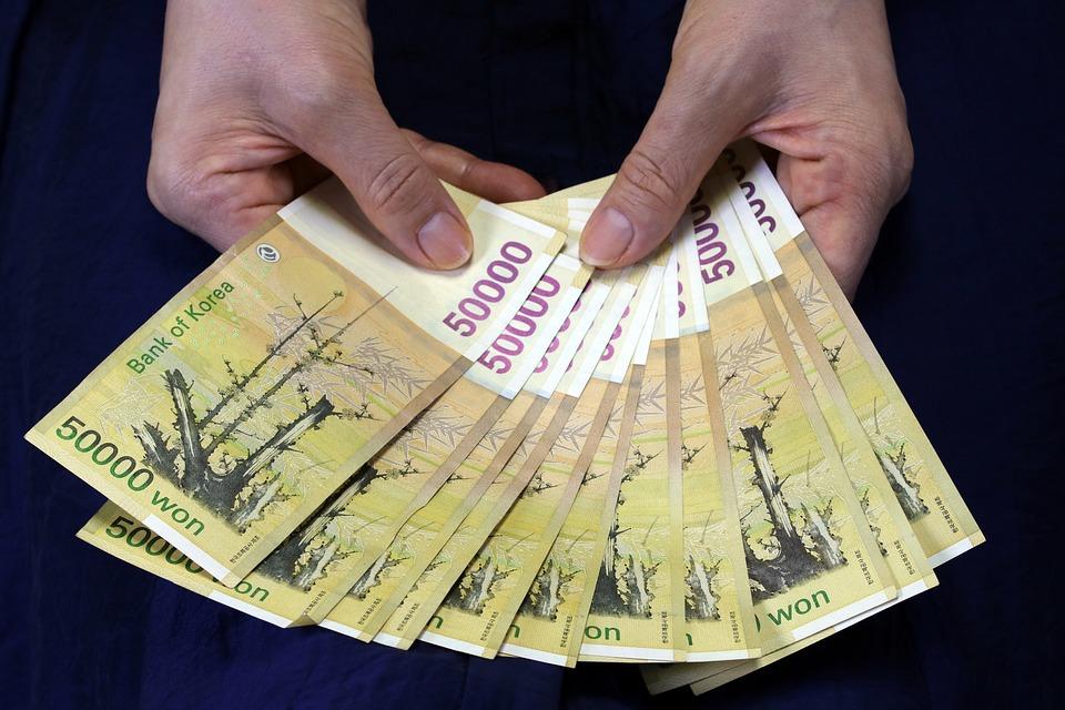 korejské peníze